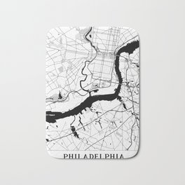 Philadelphia Minimal Map Bath Mat