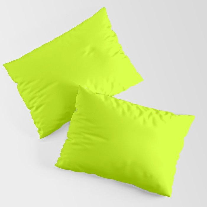 Bright green lime neon color Kissenbezug