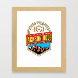 Skiing Jackson Hole Wyoming Framed Art Print