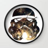 stormtrooper Wall Clocks featuring Stormtrooper by Benedikte