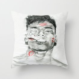 Kiss-Bombed Throw Pillow