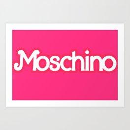 Moschino Barbie Art Print