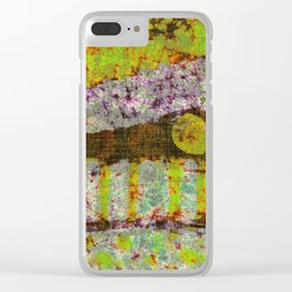 Vintage Lime Clear iPhone Case