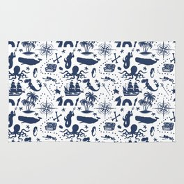 High Seas Adventure // Navy Blue Rug