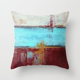 Commandment - Textured Abstract Painting Throw Pillow