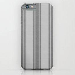 Grey striped pattern iPhone Case
