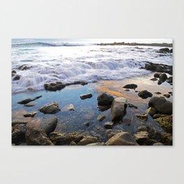 White Point Beach: Waves at Sundown Canvas Print