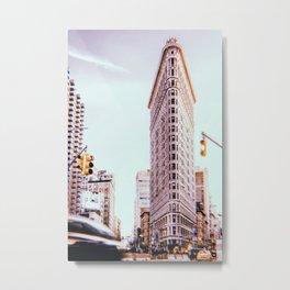 New York City // Retro 124 Metal Print