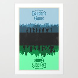Futurama - Bender's Game Art Print