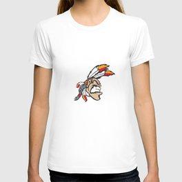 American indian man. Mascot. Kentucky. T-shirt