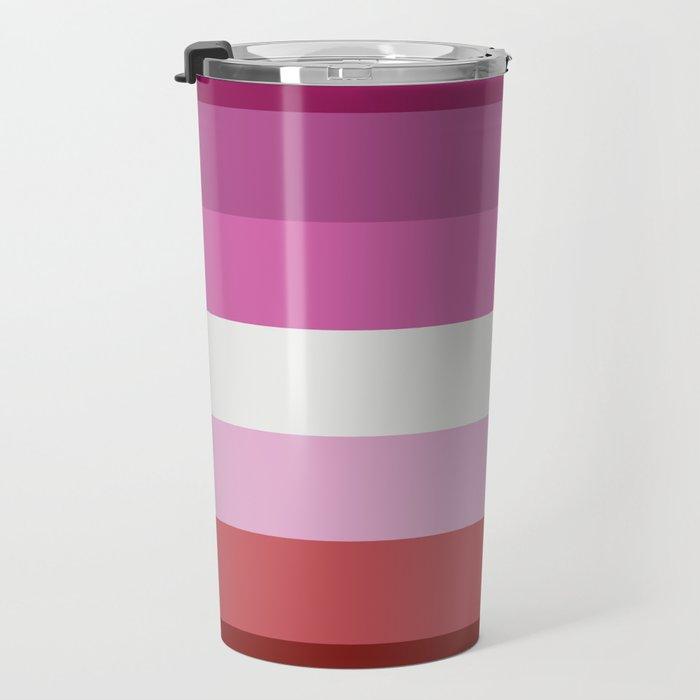 Lesbian Flag Travel Mug