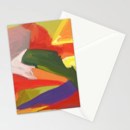 Desert Island Daydreaming Abstract Landscape Stationery Cards