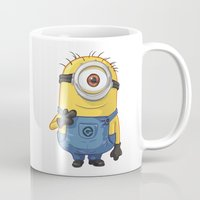 carl sagan Mugs featuring Minion - Carl by Konstantin Veter