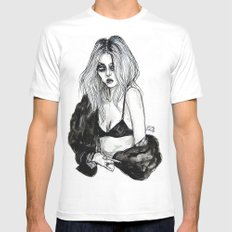 Taylor momsen Fiasco Magazine MEDIUM Mens Fitted Tee White