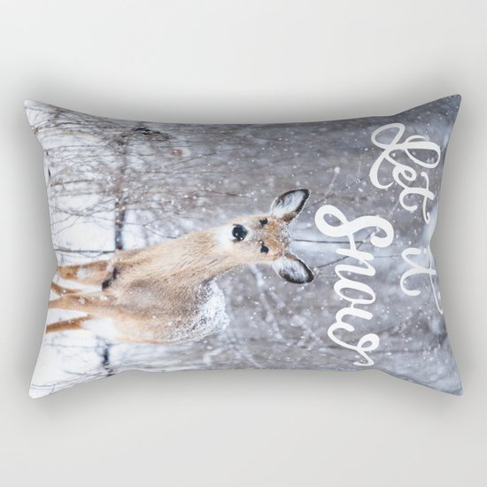Let it Snow Christmas Rectangular Pillow