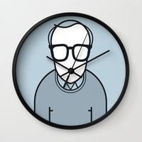 woody Wall Clocks featuring Woody by Ale Giorgini
