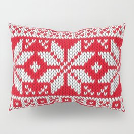 Winter knitted pattern 3 Pillow Sham