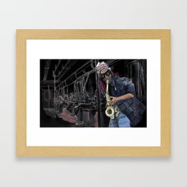 6 Train Framed Art Print