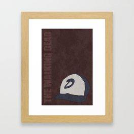 The Walking Dead game: Clementine's hat Framed Art Print