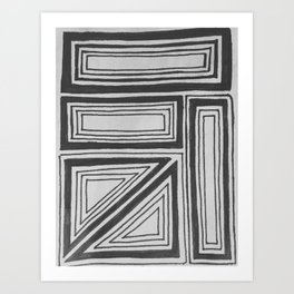 Geometric squares Art Print
