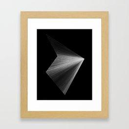 lines: reversed Framed Art Print