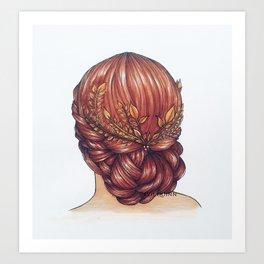 Golden Hair. Art Print