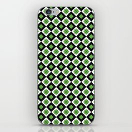 CHECK IT GREEN iPhone Skin