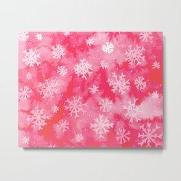 Watercolor Snowflakes Metal Print