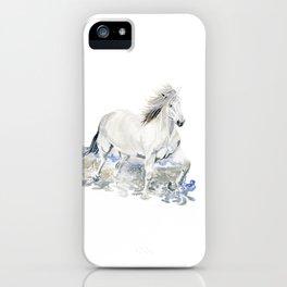 Wild White Horse iPhone Case