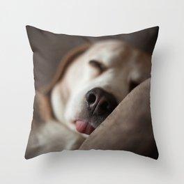 Sleepyhead Throw Pillow