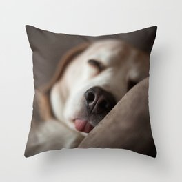 Sleepyhead Throw Pillow