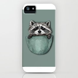 racoon on a bag iPhone Case