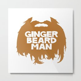 ginger beard Metal Print