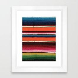 BEAUTIFUL MEXICAN SERAPE Framed Art Print