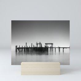 Pier in Fog Mini Art Print