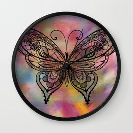 Butterfly Lacing Wall Clock