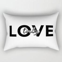 Love Truly Rectangular Pillow
