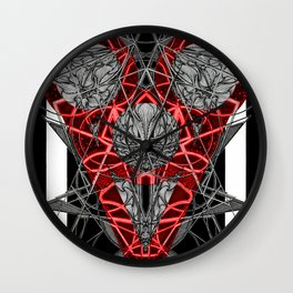 Red Electric Heart Wall Clock