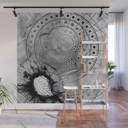 Fragmented Fractal Memories and Shattered Glass Wall Mural