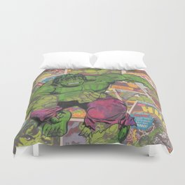 The Hulk Vintage Comic Art Duvet Cover