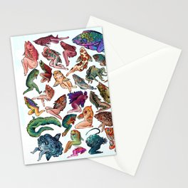 Reverse Mermaids Stationery Cards