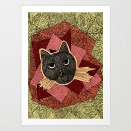Cattitude: A cat with an attitude Art Print