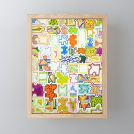 Puzzle Pieces Framed Mini Art Print