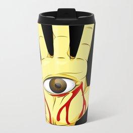 The hand of the artist Metal Travel Mug