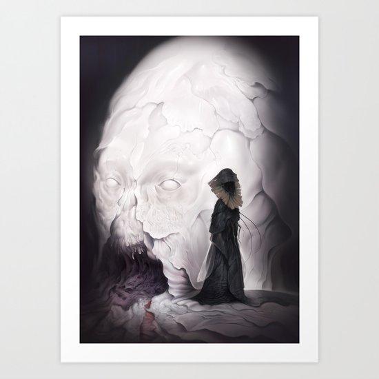 Death Claims the Godhead Art Print