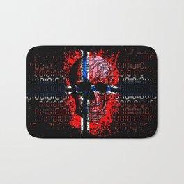 Skull circuit (norway-flag) Bath Mat