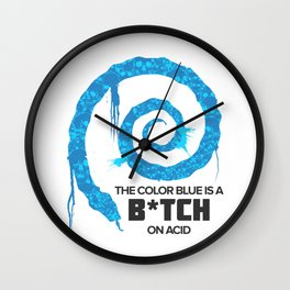 The Color Blue Is... Wall Clock
