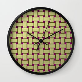 colored stripe pattern with rectangles and Wall Clock