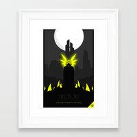 crowley Framed Art Prints featuring Hector Crowley by Oblivion Creative
