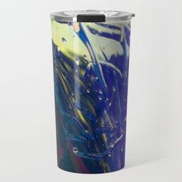 Abstract sunrise - orange, blue and yellow - Travel Mug